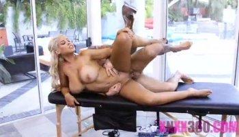 Big Tits Blonde Striptease