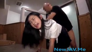 Miniature oriental gal gives a blow