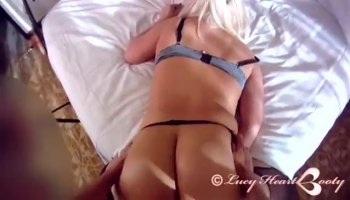 Steamy lesbian sex in the couch